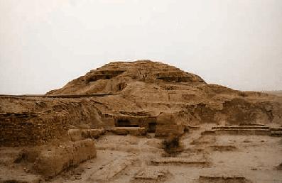 Les ruines de la ziggourat d'Ishtar