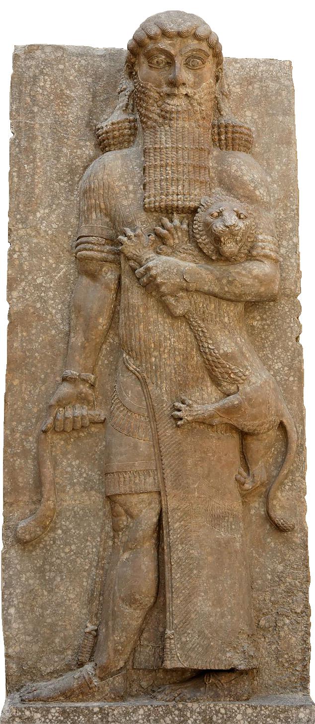 Bas-relief représentant Gilgamesh