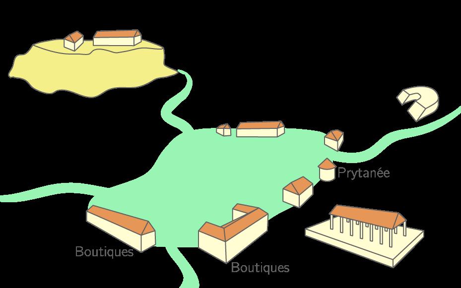 Schéma de la cité d'Athènes