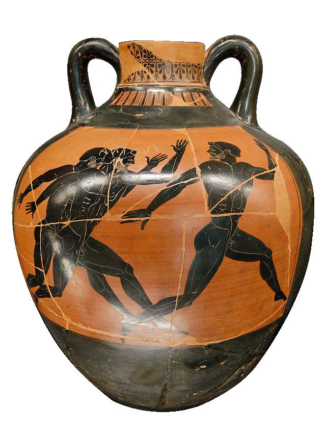 La course à pied (Ve siècle avant J.-C., Musée du Louvre, Paris)
