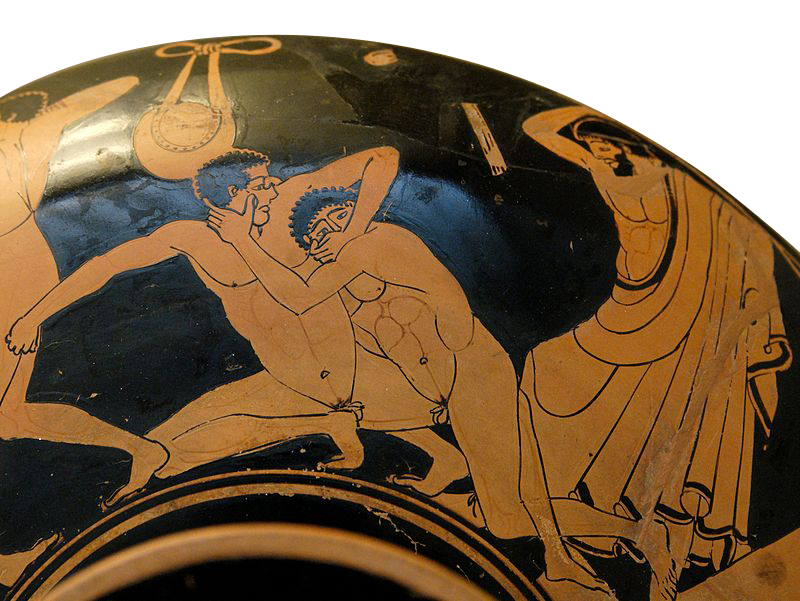 Le pancrace (vers 490 avant J.-C., British Museum, Londres)