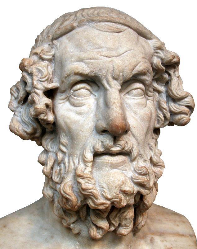 Homère dans une représentation idéalisée (époque héllénistique)