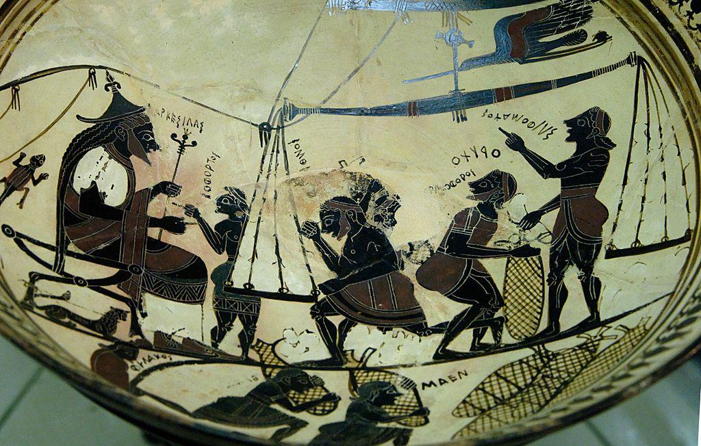 La coupe d'Arkésilas (milieu du VIe siècle avant J.-C.)