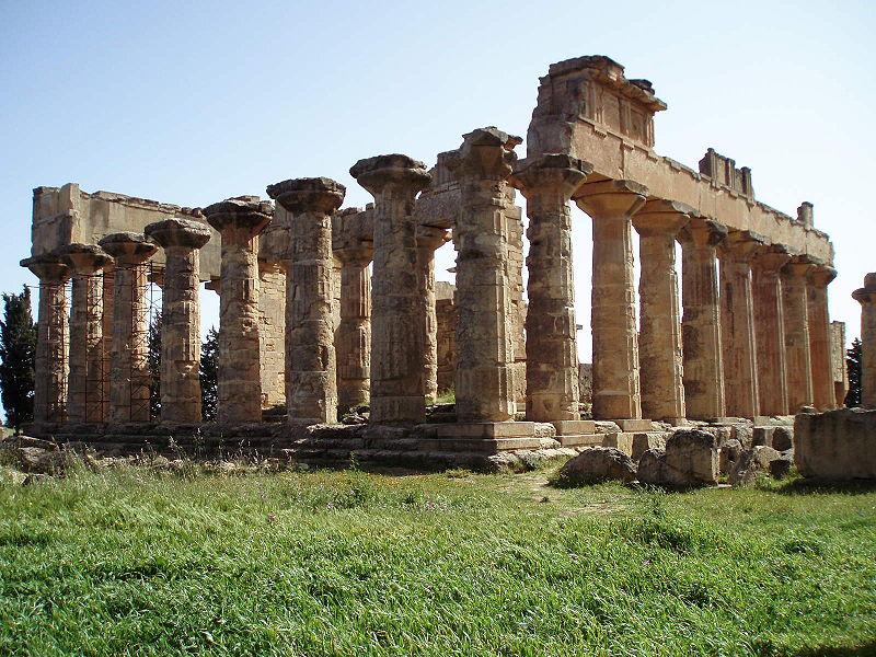Le temple de Zeus à Cyrène