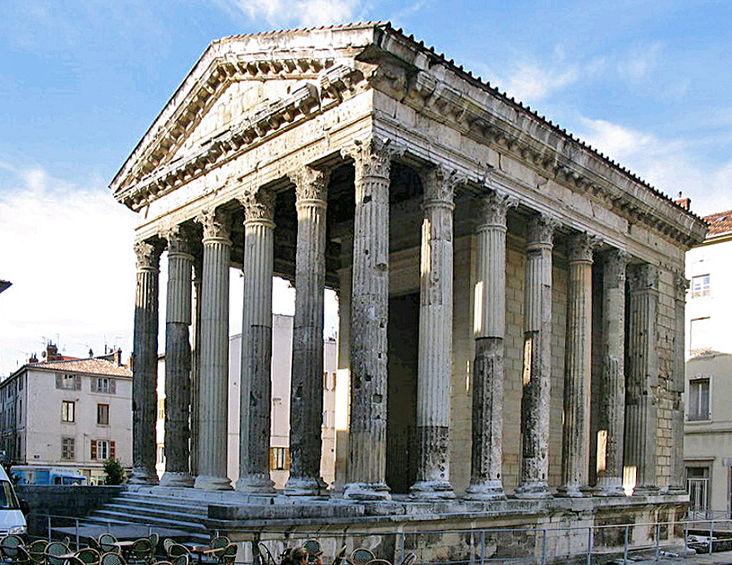 Le temple d'Auguste et Livie à Vienne