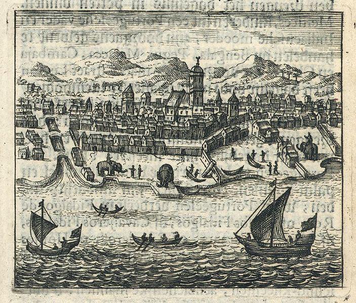 La ville portugaise de Goa en Inde (gravure, fin du XVIIe siècle)