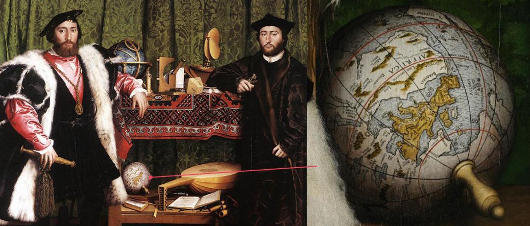 Les Ambassadeurs, tableau de Hans Holbein le Jeune, 1533