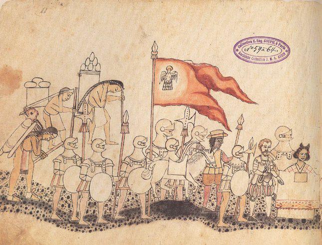 L'armée de Cortés marche sur Tenochtitlan.