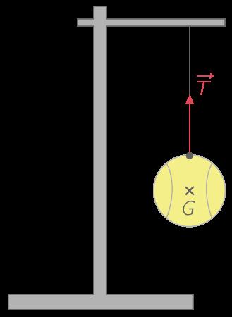 Représentation de la tension exercée par un fil sur un pendule