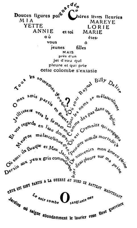 """""""La Colombe poignardée et le jet d'eau"""" de Guillaume Apollinaire"""