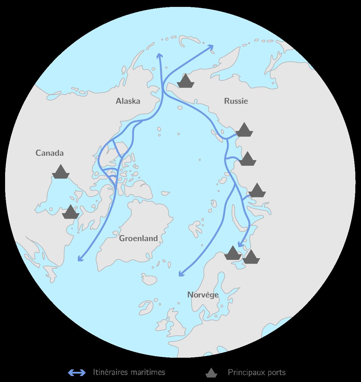 Les nouvelles routes maritimes en Arctique