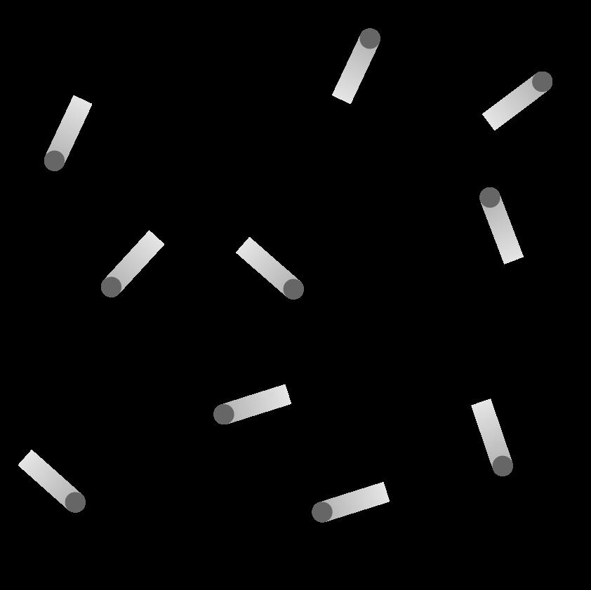 Mouvement des particules d'un gaz dans une enceinte