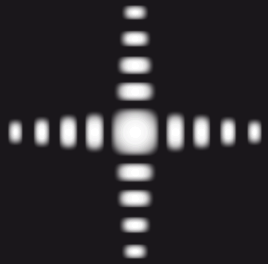 Figure de diffraction obtenue avec une ouverture carrée