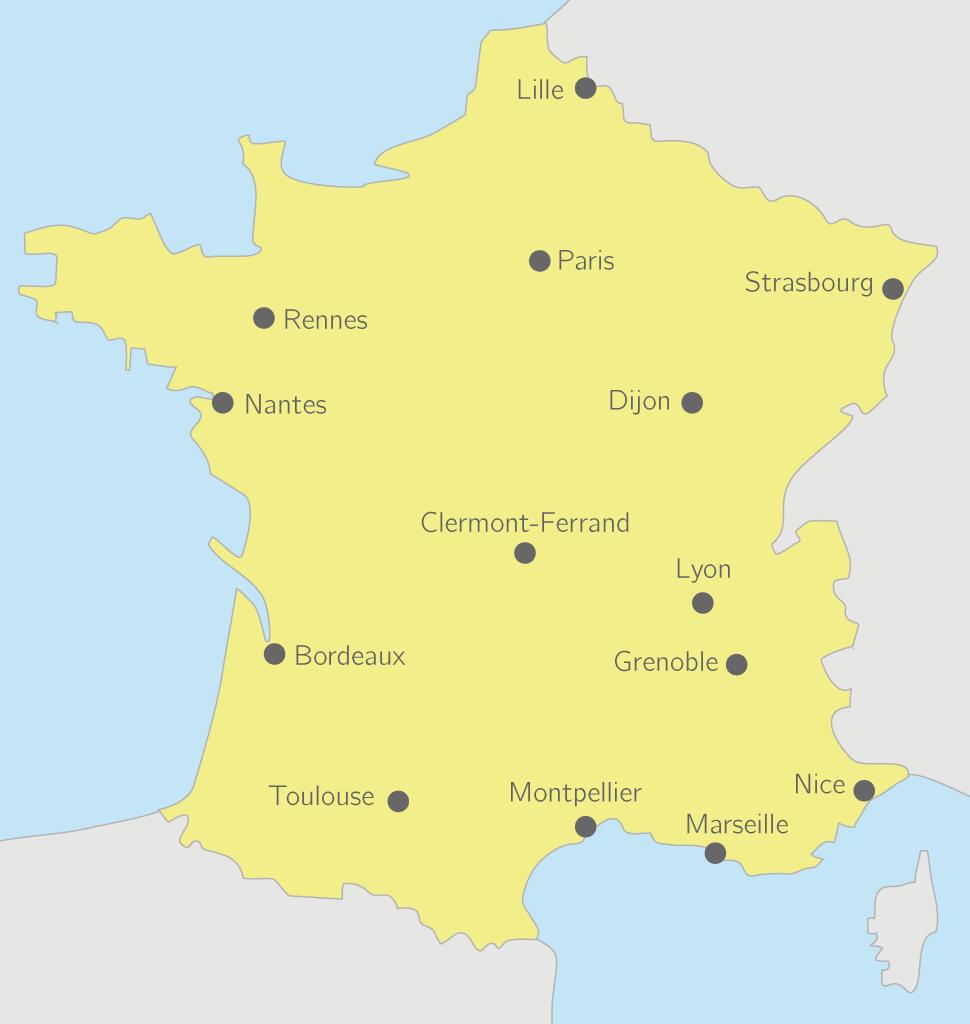 Les principales aire urbaines en France