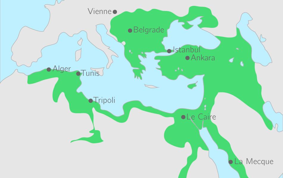 L'Empire ottoman à son apogée (XVIe siècle − XVIIe siècle)