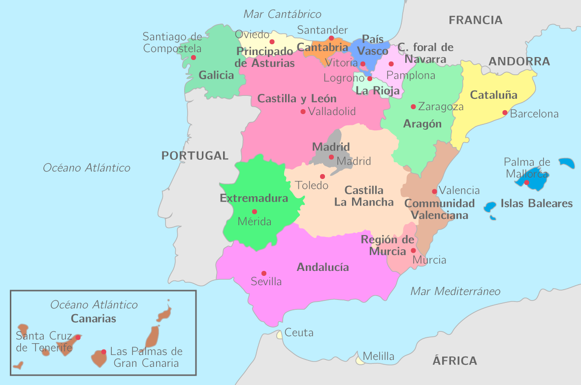 Les communautés autonomes en Espagne