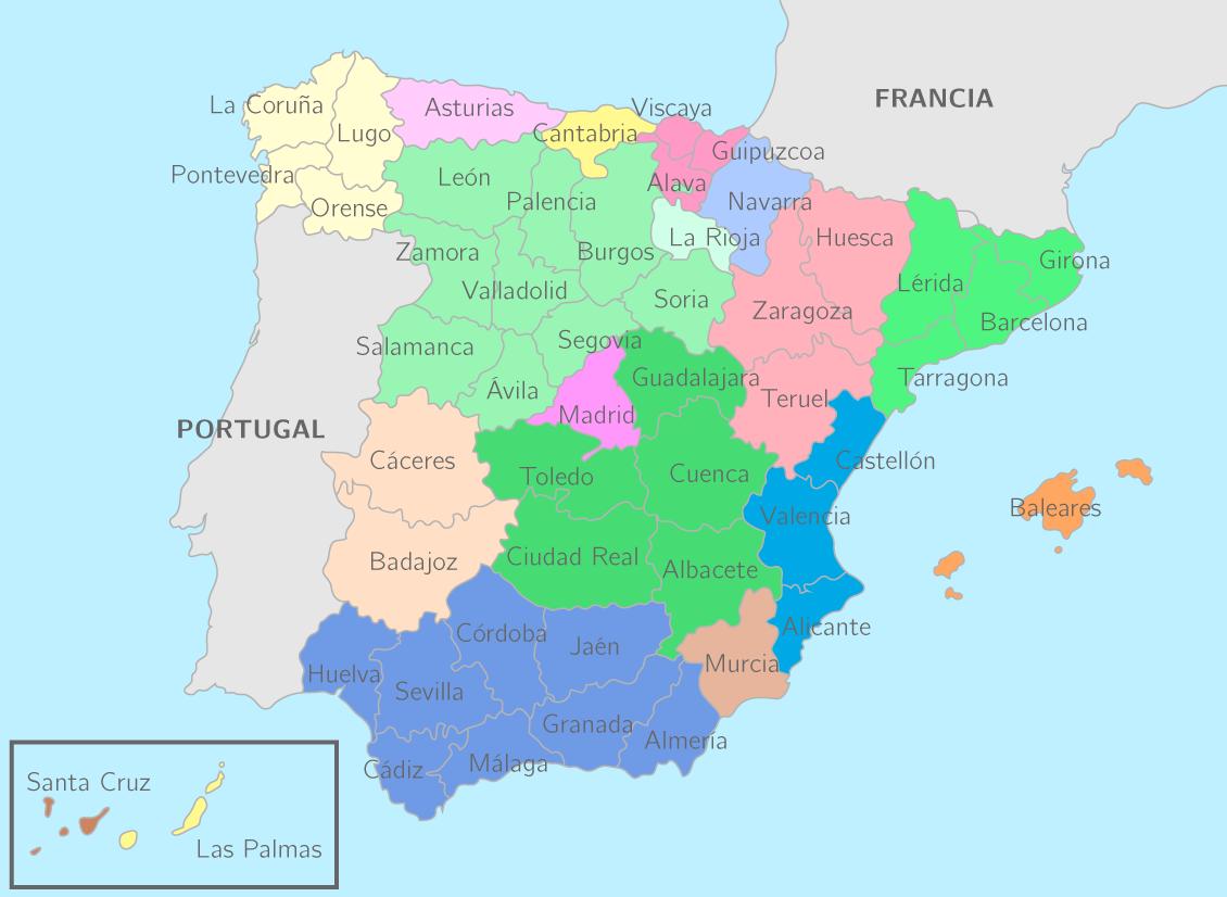 Les provinces espagnoles