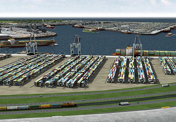 Maasvlakte 2, le nouveau polder du port de Rotterdam
