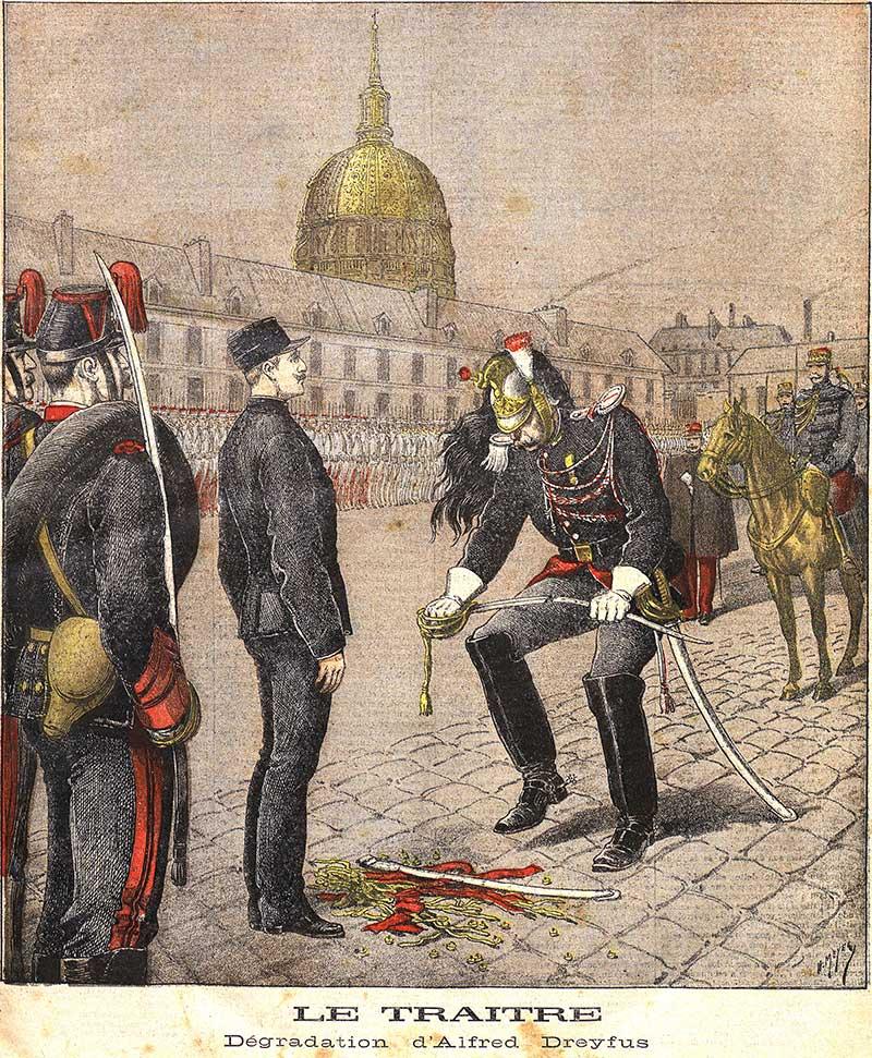 La dégradation d'Alfred Dreyfus le 5 janvier 1895.