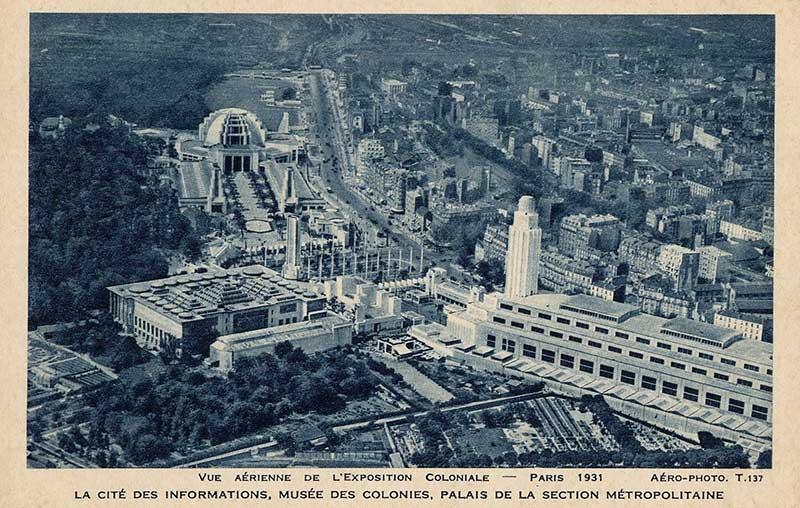 Vue aérienne de l'exposition coloniale de 1931