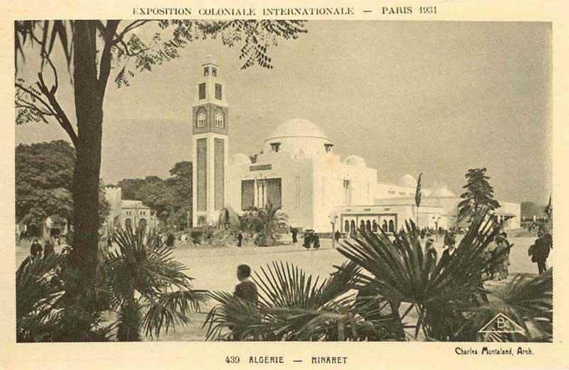 Le pavillon de l'Algérie lors de l'exposition coloniale de 1931