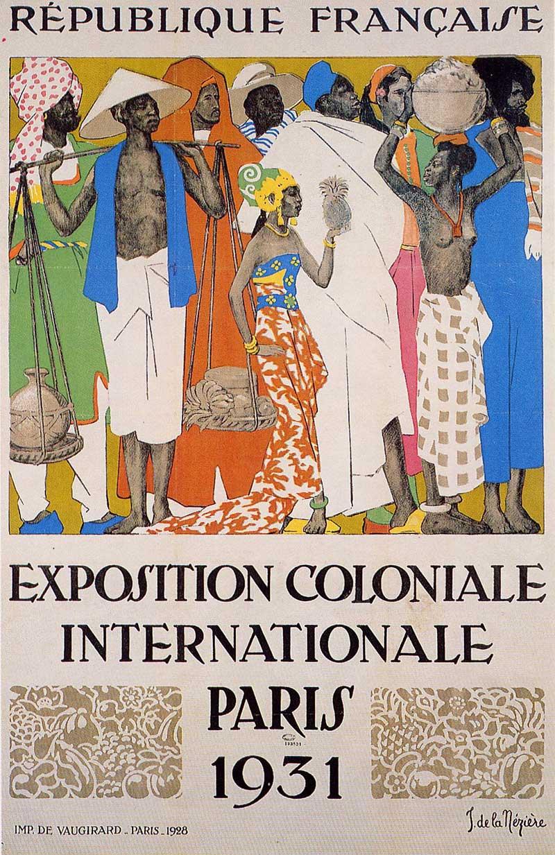 Affiche pour l'exposition : une vision idéalisée de la colonisation