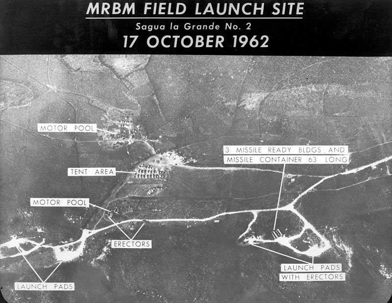 Photographie aérienne des missiles installés à Cuba