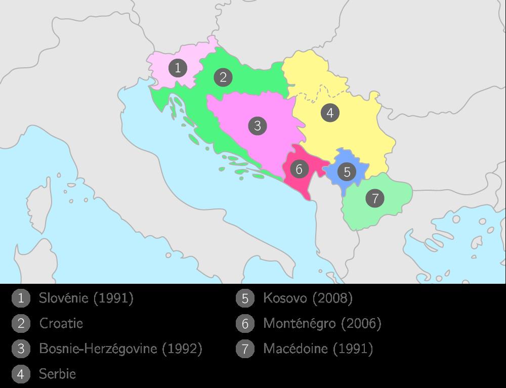 L'éclatement de la Yougoslavie