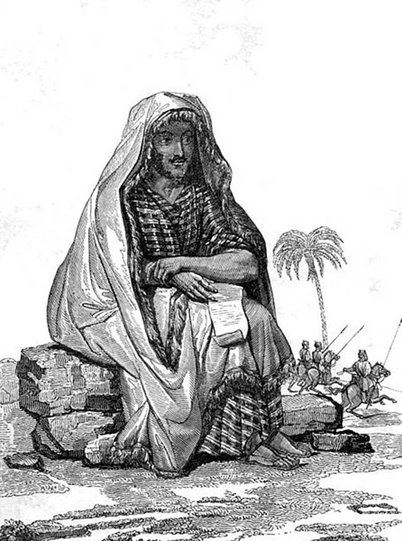 """René Caillié """"habillé en Arabe"""" en 1830"""