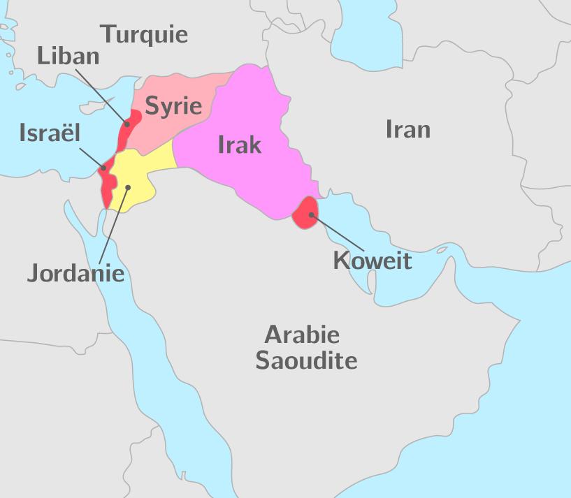 Carte du Golfe