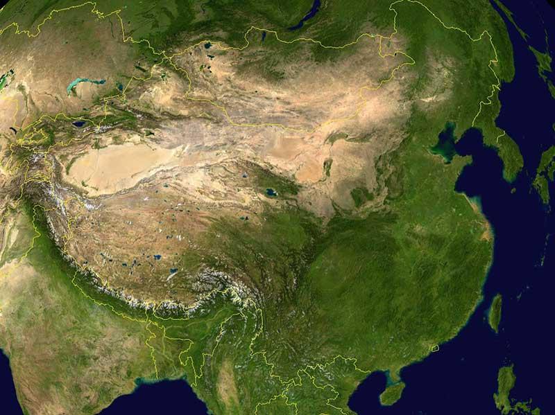 Le désert de Gobi, au Nord de la Chine