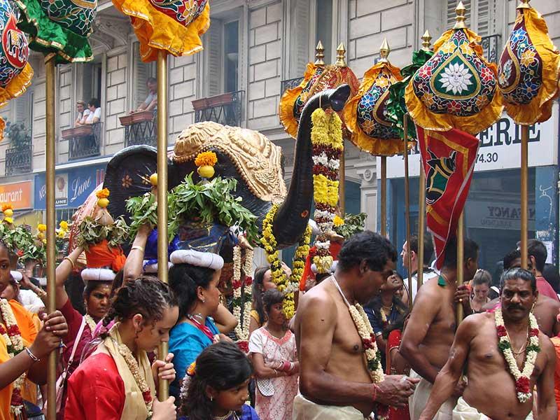 La fête de Ganesh à Paris