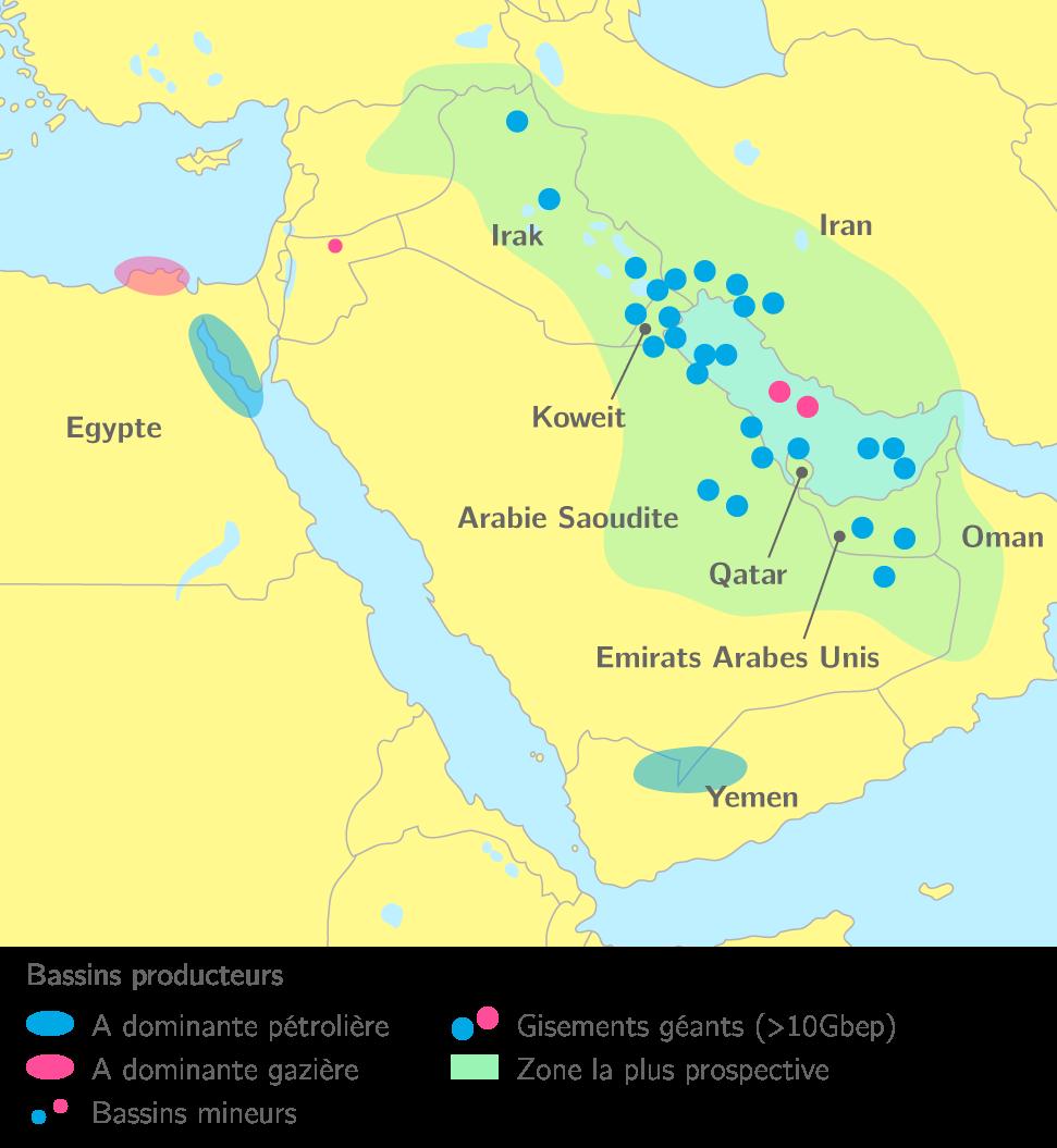 La répartition des ressources en hydrocarbures au Moyen-Orient