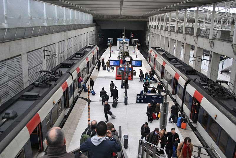 La gare du RER B à Roissy-Charles de Gaulle