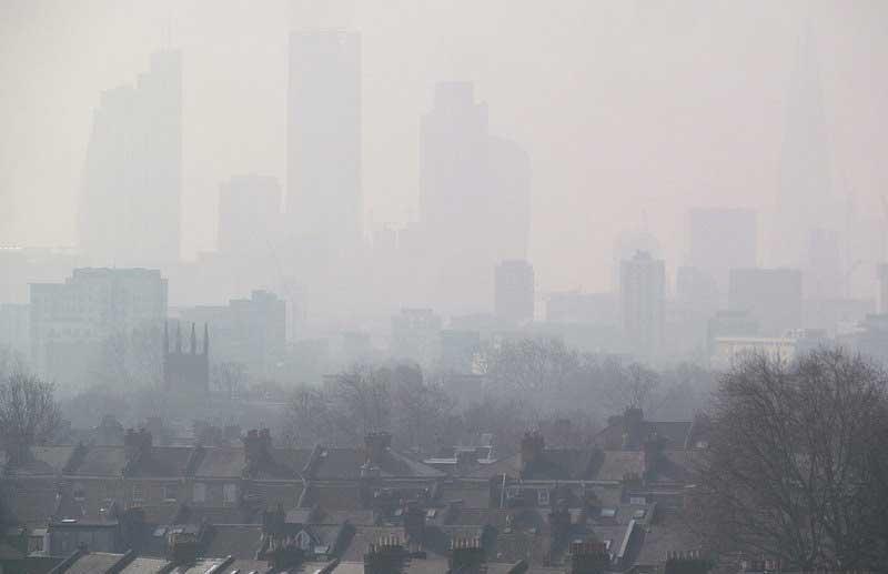 Le smog londonien en 2015