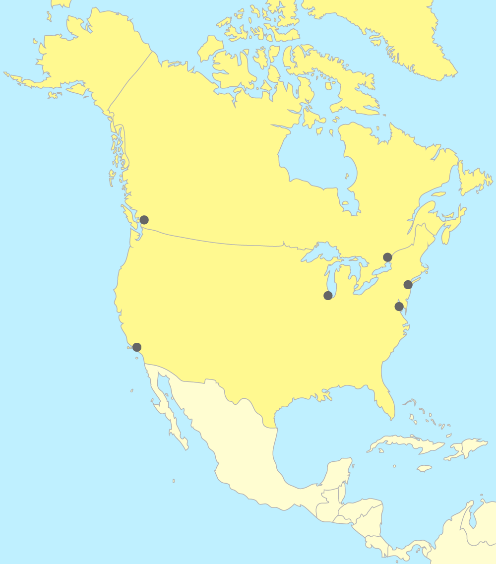 Carte Amerique Avec Ville.Placer Les Pays Et Les Villes D Amerique Du Nord Sur Une