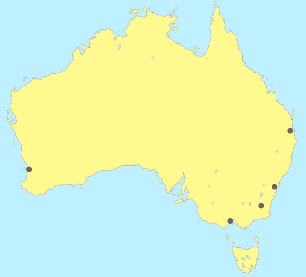 Carte de l'Australie