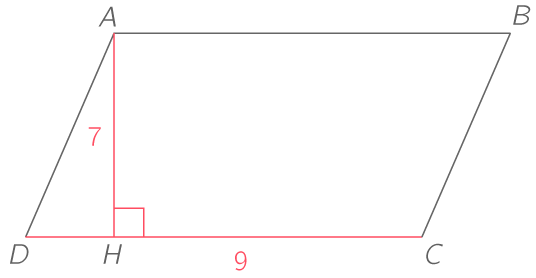 Calculer L Aire D Un Parallelogramme 2nde Methode Mathematiques