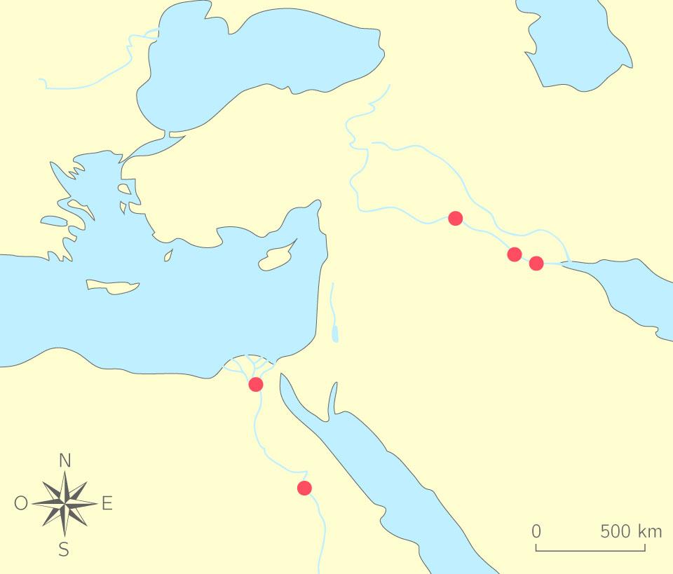 carte de l orient ancien Compléter une carte de l'Orient ancien   6e   Exercice fondamental