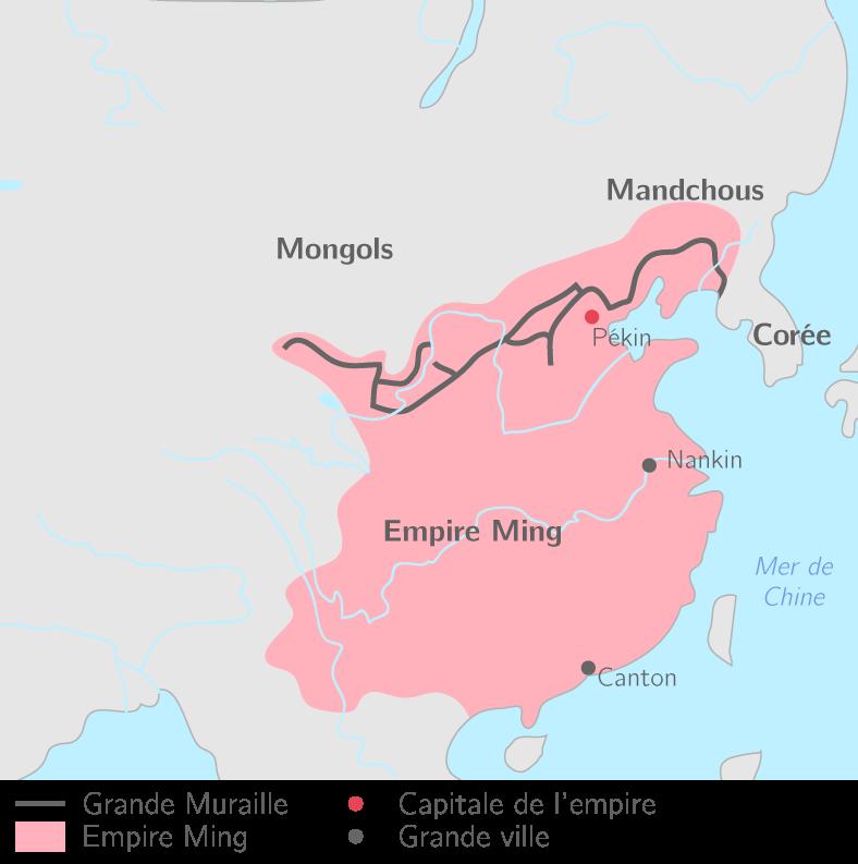 Carte Chine Ming.Pekin 2nde Etude De Cas Histoire Kartable