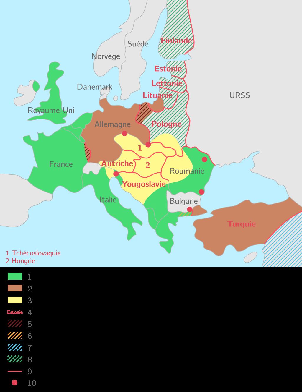 L'Europe au lendemain des traités (1923)