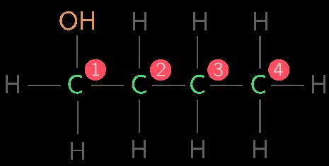 Formule développée du butanol