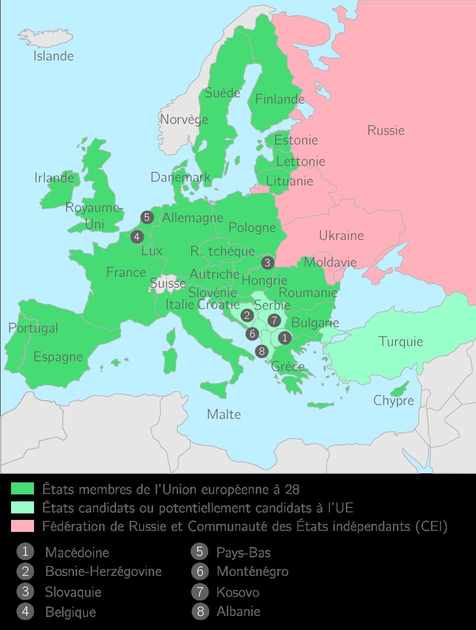 L'Union européenne à 28 au 1er janvier 2014