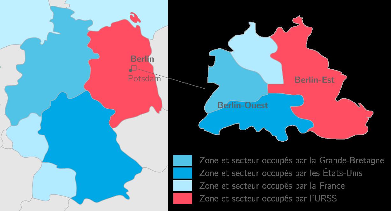 La séparation de l'Allemagne au lendemain de la conférence de Potsdam