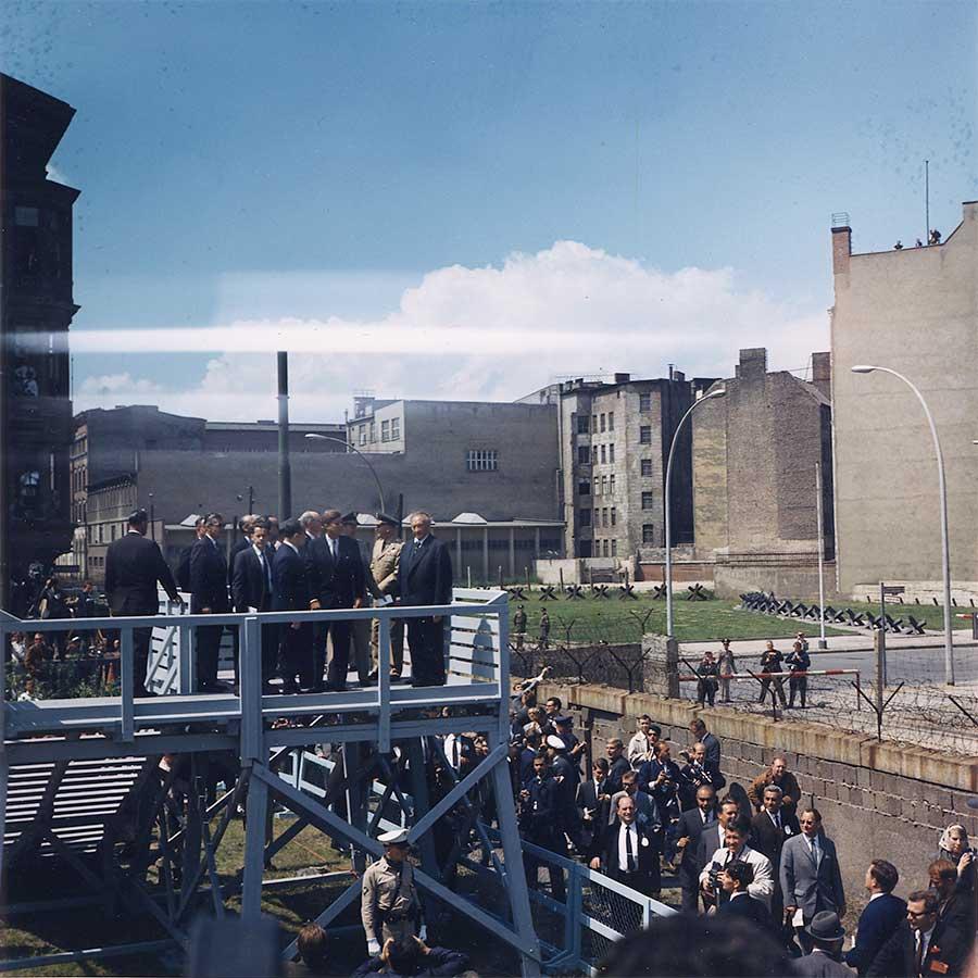 Le président des États-Unis en visite à Berlin le 26 juin 1963