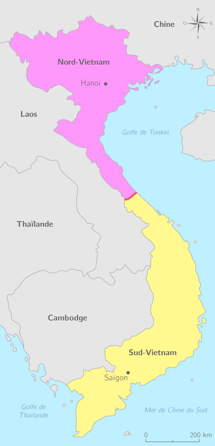 Le Nord-Vietnam et le Sud-Vietnam