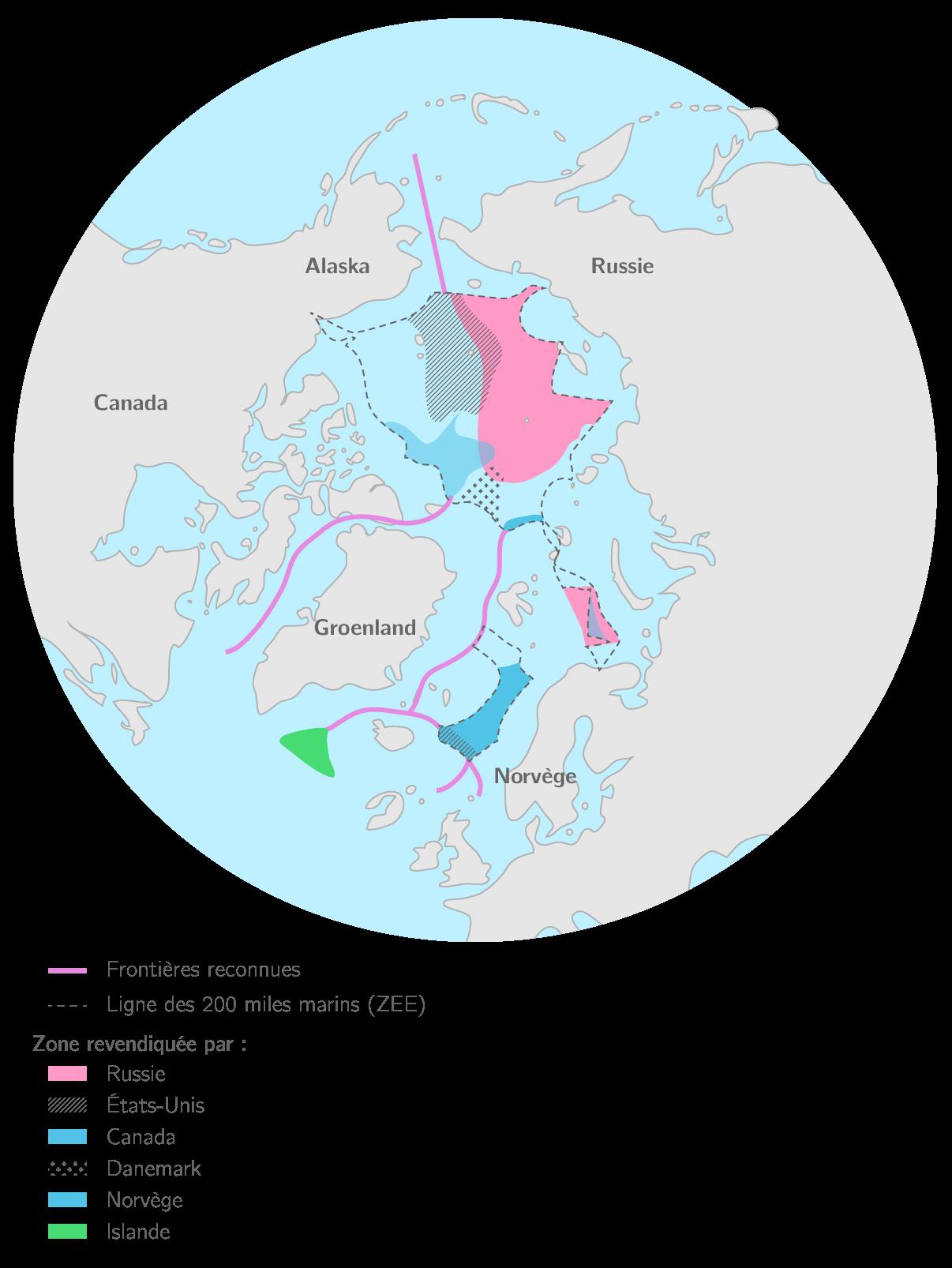 Les revendications territoriales en Arctique