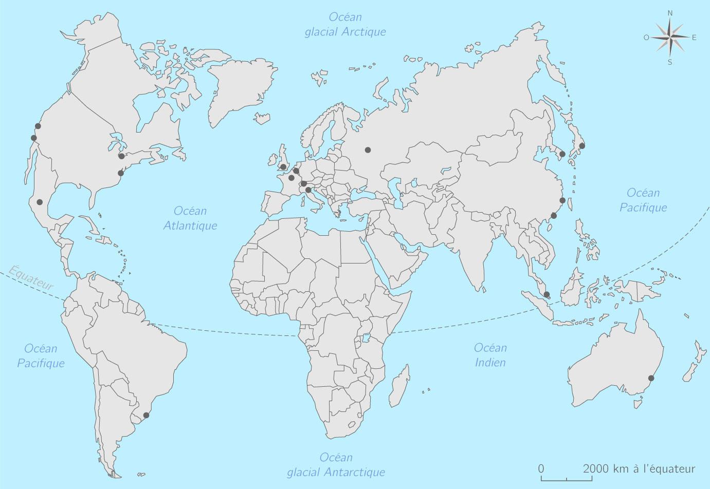 Les principales métropoles mondiales