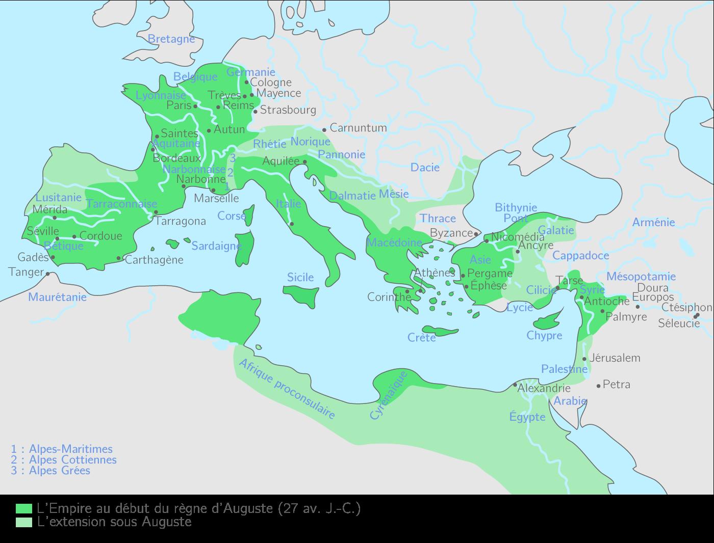 L'Empire romain sous l'empereur Auguste