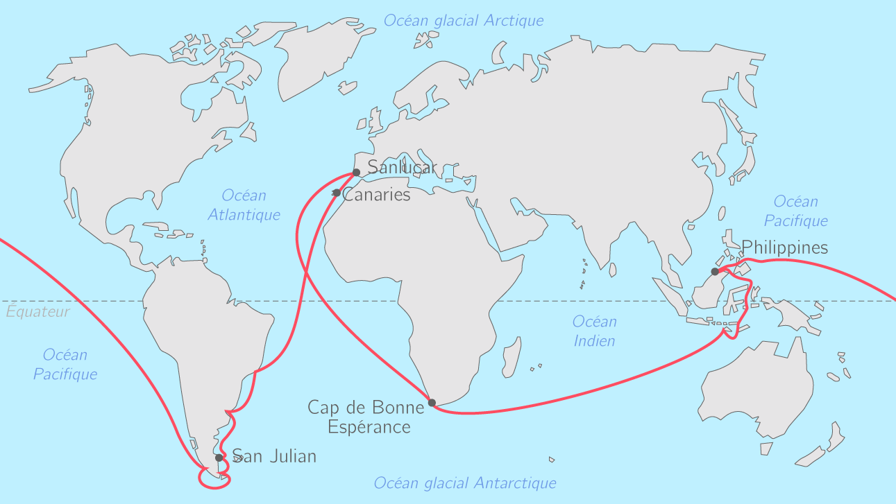 Le premier tour du monde (1519 − 1522)